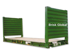 40' flat rack container with collapse end